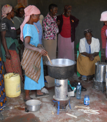 women cooking on Malaika Jiko